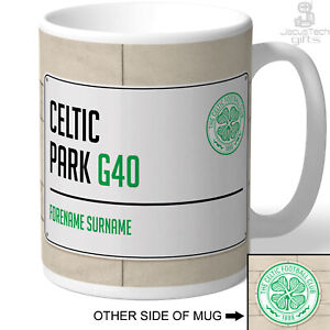 Celtic FC Mug, Personalised Cup. Official. Birthday Gift For Football Fan