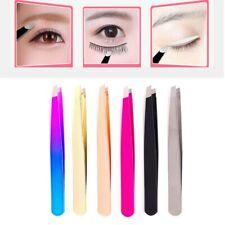 Eyebrow Tweezer Hair Beauty Slanted Stainless Steel Tweezer Pluckers Tip Clip US