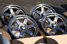 17x8 Avid1 AV06 Rims 5x100 +35 Hyper Black Wheels Fits Jetta Frs Corolla (Used)