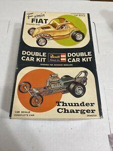 REVELL DOUBLE DRAG FUMIN FIAT & THUNDER CHARGER ORIGINAL KIT! CIRCA 1963!