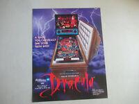 original DRACULA WILLIAMS  pinball macine   ARCADE GAME  FLYER    CFD