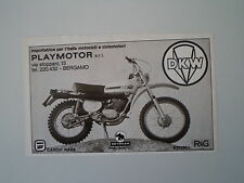 advertising Pubblicità 1975 MOTO DKW 125