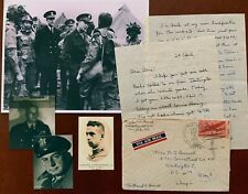 Wwii letter Eisenhower's D-Day Staff Brig. Gen. Burnell talk to 101st Airborne