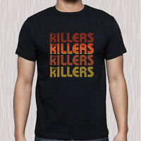 The Killers American Rock Band Logo Men's Black T-Shirt Size S to 3XL