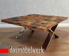 Massivholz Couchtisch Beistelltisch Wohnzimmertisch Industrie Antik Retro AF2037