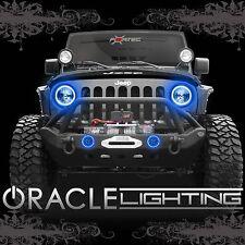 2007-2017 Jeep Wrangler JK ORACLE LED Headlight + Fog Light Halo Kit Combo Blue