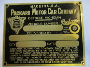 Packard USA Nameplate S24