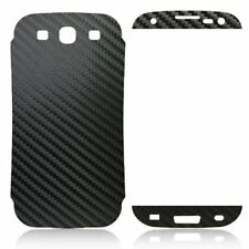 Black 3M Carbon Fiber Vinyl Skin for Samsung Galaxy S III