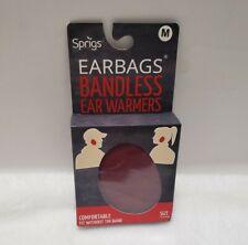 New Sprigs Earbags Bandless Ear Warmers Burgandy Sz Medium M
