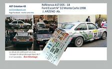DECALS CALCA 1 43 FORD ESCORT N°32 ARZENO RALLY WRC MONTE CARLO 1998 MONTECARLO