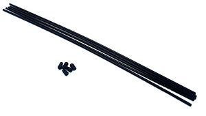 2.4ghz 27mhz RC Car Receiver Plastic Antenna Pipe Black Cap Aerial Tube Black x5