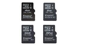 32GB 16GB 8GB 4GB Original Kingston MicroSD TF Memory Card Phone whlesale M