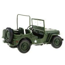 1:18 Willys WW II Jeep SUV Car Model Toy Vehicle Alloy Diecast Gift