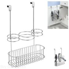 Over-Cabinet Hair Care Organizer Station For Girls Tools Storage Chrome New