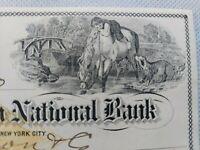 Kenton Savings Bank  Check  With Revenue Stamp 1873