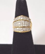 3CT. GENUINE ROUND DIAMOND RING SOLID 10K YELLOW GOLD SIZE 7 ON SALE