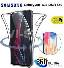 COVER per Samsung Galaxy A50 A40 A70 CUSTODIA Fronte Retro 360 SILICONE SLIM TPU