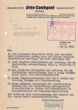 BORNA, Brief 1960, Baumeister Otto Landgraf Baugeschäft