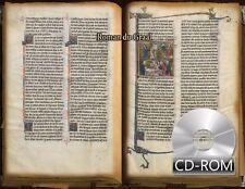 Roman du Graal 1290 AD Illuminations Manuscripts Arthurian romances