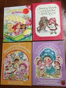 Set of 4 Vintage Strawberry Shortcake Books