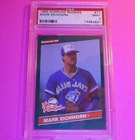 1986 Donruss Rookies #13 Mark Eichhorn RC Graded PSA 9 MINT Rookie,  SET BREAK