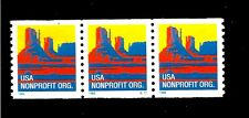 United States Stamps Scott #2902 American Scenes Coil Strip (3) Plate #S11