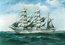 """Great Charles Lundgren US Coast Guard """"Eagle"""" Limited Ed. Print of 100 - Signed!"""