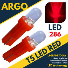 T5 286 Led Rojo Trasero Luz de freno alto nivel Bombillas Xenón HID 12v Luz