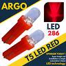 T5 286 Led Ultra Rojo Bombillas Del Salpicadero Xenón Hid 12V Luz Indicadores