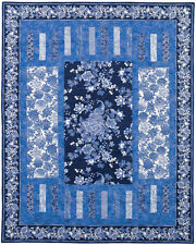 Trifecta Quilt Kit w/Timeless Treasures Caprice - Blue/White Fabrics