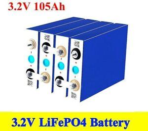 4pcs LifePo4 Lithium 3.2V 105Ah Cell Li-ion Phosphate Grade A New Battery