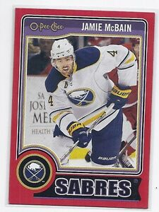 14-15 2014-15 O-PEE-CHEE JAMIE McBAIN RED PACK REDEMPTION 424 BUFFALO SABRES