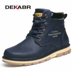 Men Winter Boots Men pu Leather Wear Resisting Casual Shoes Working Men Boots
