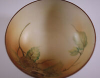 ANTIQUE NIPPON MORIMURA BROS CHESTNUT  FOOTED  BOWL, HAND PAINTED