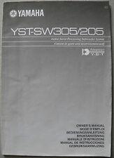 YAMAHA YST-SW305 / SW205 Bedienungsanleitung, User manual