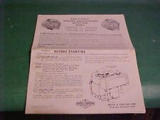 Briggs & Stratton 1976 Owner'S Manual Operating Instructions Motor 190700