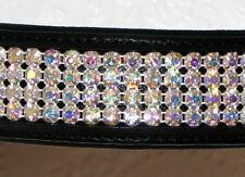 FSS Clear AB Aurora 4 Row Rhinestone BLING Crystal Padded Browband Custom Made