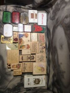 Lot Of Rubber Stamps And Ink Christmas & Spring