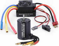 Waterproof 3650 3900KV Brushless Motor/60A ESC for 1/10 RC Car Truck
