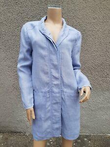 POETRY Longline Summer LINEN Jacket / Shirt Dress Size UK 12
