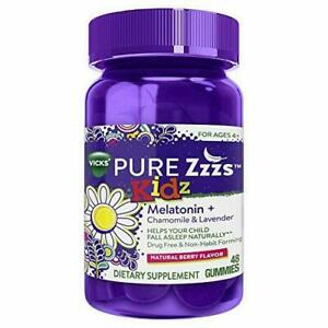 ZzzQuil Pure Zzzs Kidz Sleep Aid Gummies, 48 Count (Kids and Children)