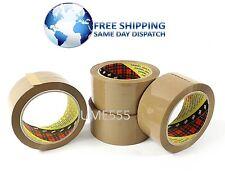 72 Rolls Brown Tape 3M Scotch Buff 371 Packing Box Sealing Tapes 48mm X 66m