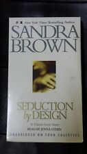 SANDRA BROWN Seduction By Design 4 Cassette Audio Book Unabridged New Sealed