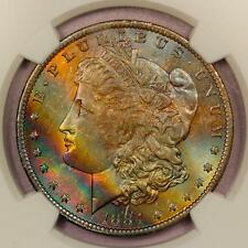 1884-O Morgan Silver Dollar *NGC MS65* Vibrant Rainbow Toning
