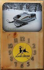John Deere 1980 440 Sportfire snowmobile wood clock
