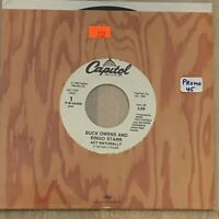 Buck Owens & Ringo Starr PROMO 'Act Naturally' NM- 45 Single Capitol 44409 1989