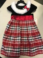 NWT Jona Michelle Girls Holiday Dress - 4T - RED PLAID
