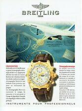 Publicité Advertising 059  1997 montre Bretling crosswind Air France Concorde