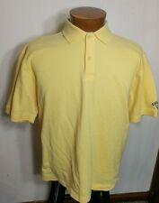 Callaway Golf Short Sleeve Men's Polo Shirt 100% Combed Cotton Yellow  M