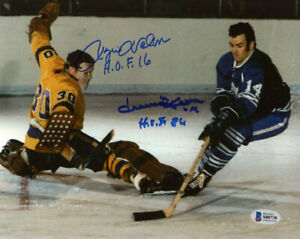 ROGIE VACHON & DAVE KEON DUAL SIGNED AUTOGRAPHED 8x10 PHOTO + HOF BECKETT BAS